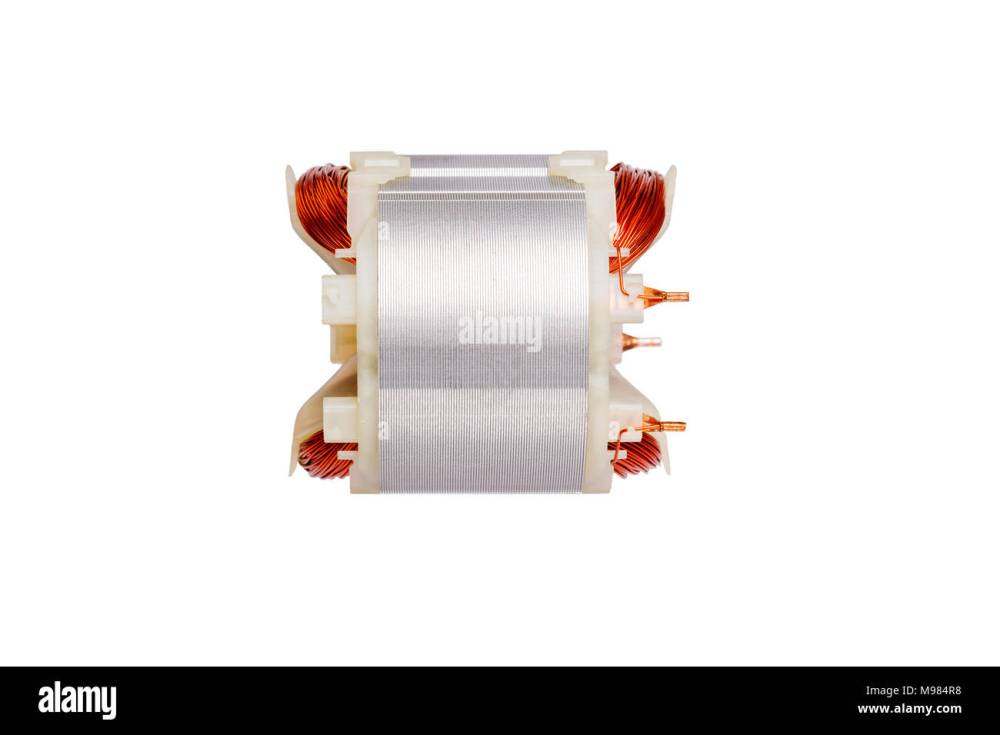 medium resolution of copper wire in a motor electric magnetic device for rotor stock image