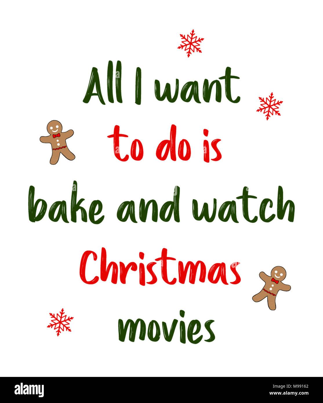 Christmas Baking Quotes : christmas, baking, quotes, Watch, Christmas, Movies, Stock, Photo, Alamy