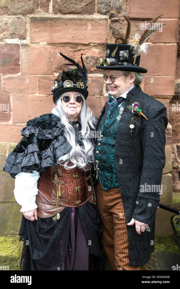 Steampunk Festival In Shrewsbury England. Ma Couple
