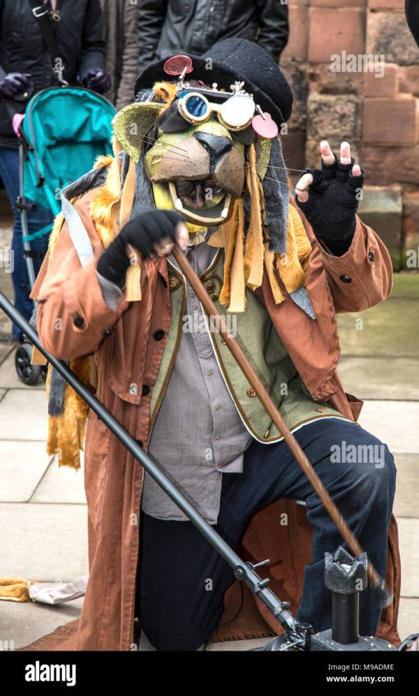 Steampunk Festival In Shrewsbury England. Man Dressed