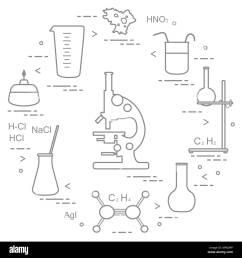 chemistry scientific education elements microscope flasks tripod formulas beaker  [ 1300 x 1390 Pixel ]