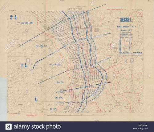 small resolution of 1 10000 scame artillery barrage map for battle of battle of broodseinde