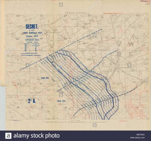 small resolution of 1 10000 scame artillery barrage map for battle of ii anzac corps at the