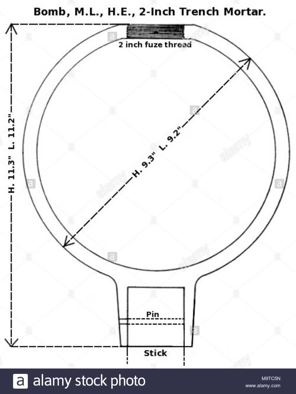 medium resolution of diagram of british 2 inch medium trench mortar bomb world war i note