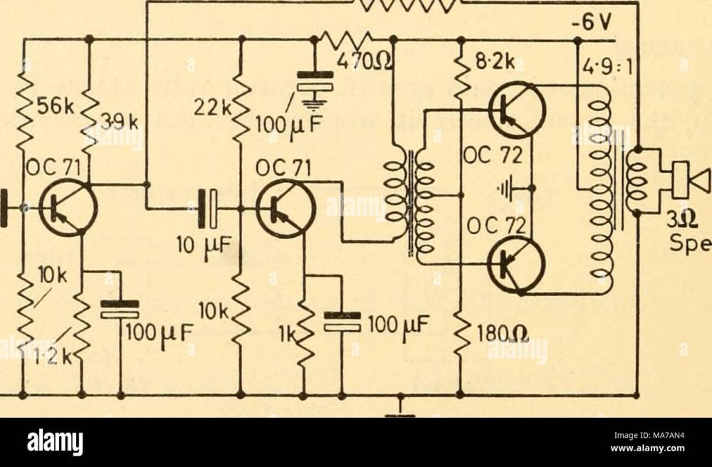 medium resolution of  coupling transformer gilson w0780 6v output transformer gilson w0781 6v figure 45 31 pair of output transistors in class b push pull the circuit