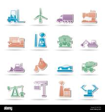 Bulldozer Icon Stock &