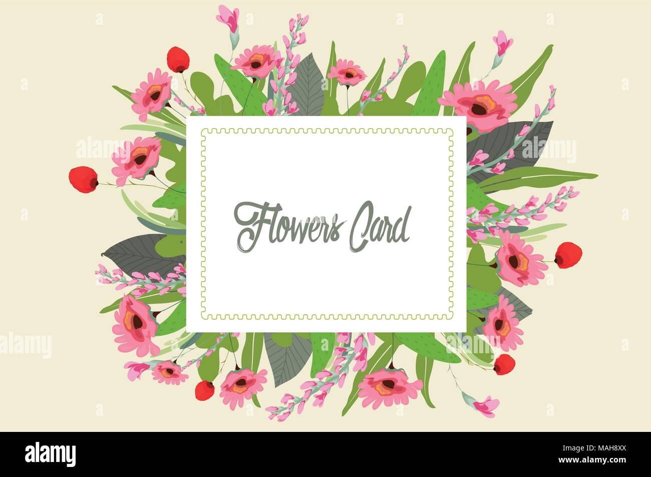 hight resolution of gouache flowers clipart pretty flowers wedding stock image