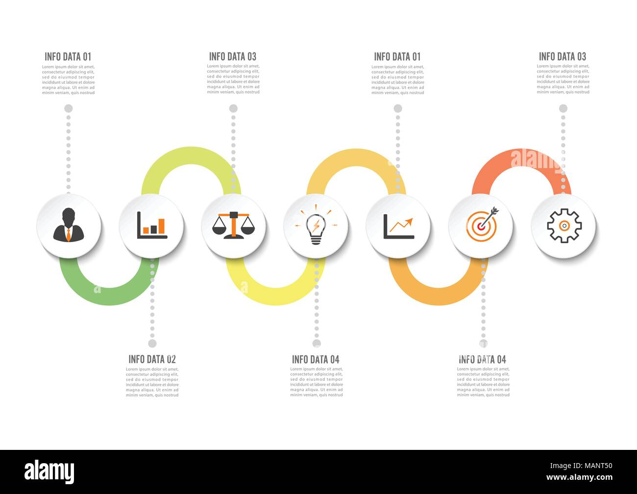 hight resolution of infographic design template and marketing icons template for diagram graph presentation and round chart business concept with 7 options parts st