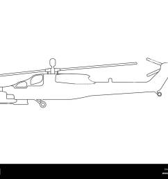 helicopter outline military equipment icon vector illustration stock image [ 1300 x 1065 Pixel ]