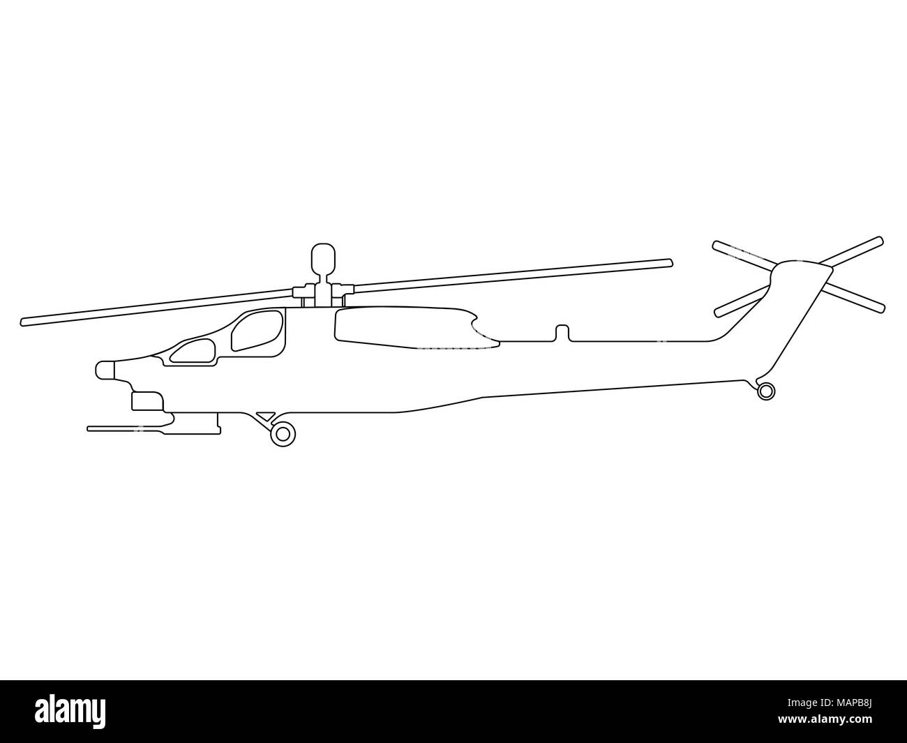 hight resolution of helicopter outline military equipment icon vector illustration stock image