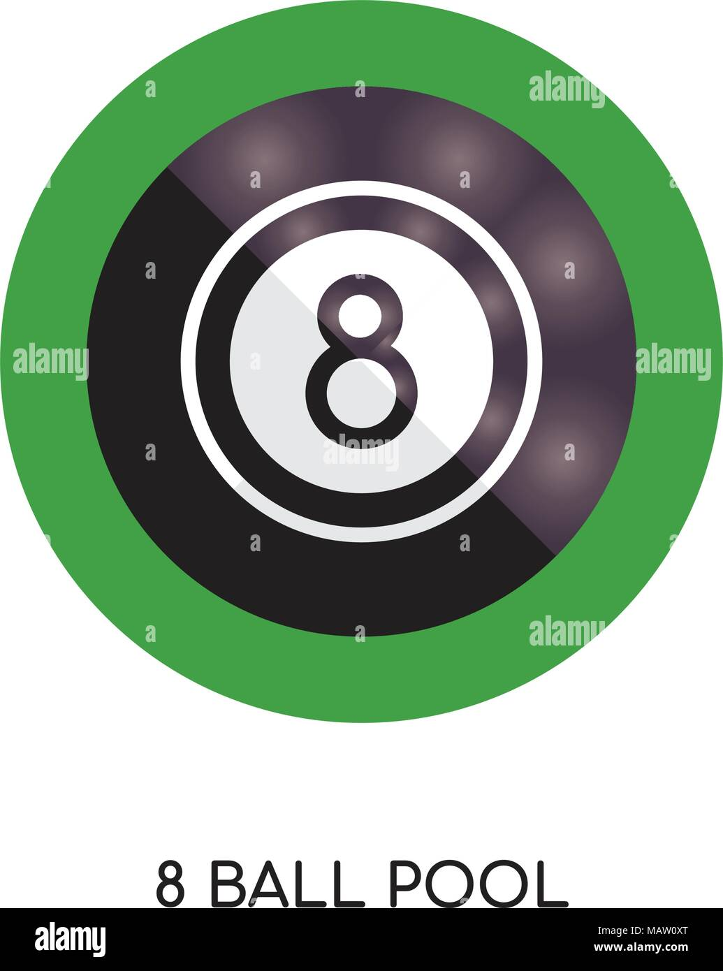 8 Ball Pool Picture : picture, Isolated, White, Background, Mobile, Design, Stock, Vector, Image, Alamy