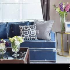 Nice Sofa Set Pic Jackknife Sleeper For Rv Navy Blue Modern Classic With Beautiful Flower Vases In Living Corner