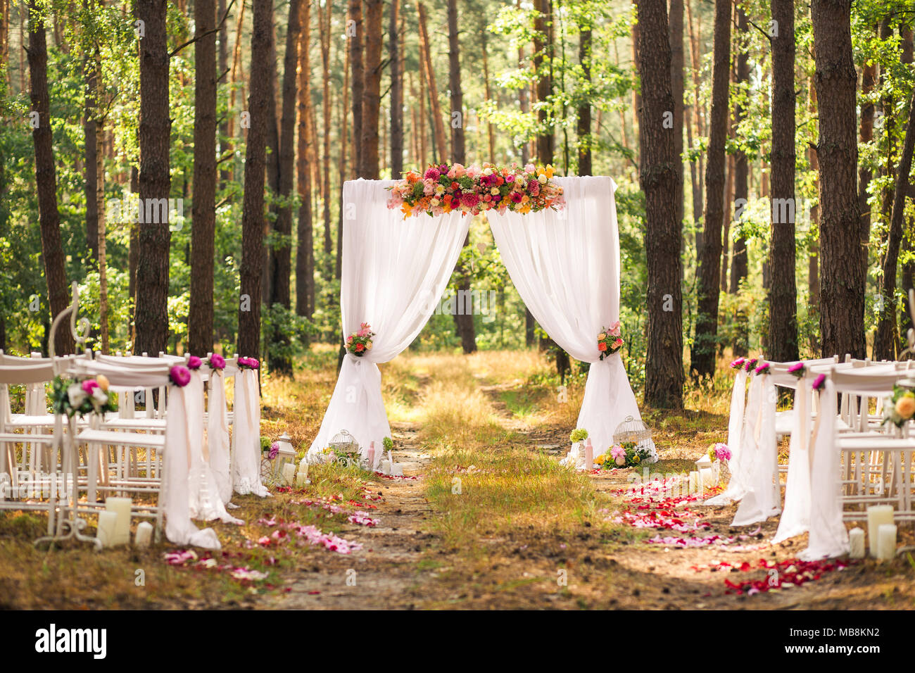 Beautiful Elegant Wedding Decorations Of Place For Ceremony
