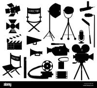 Director Chair Silhouette Black and White Stock Photos ...