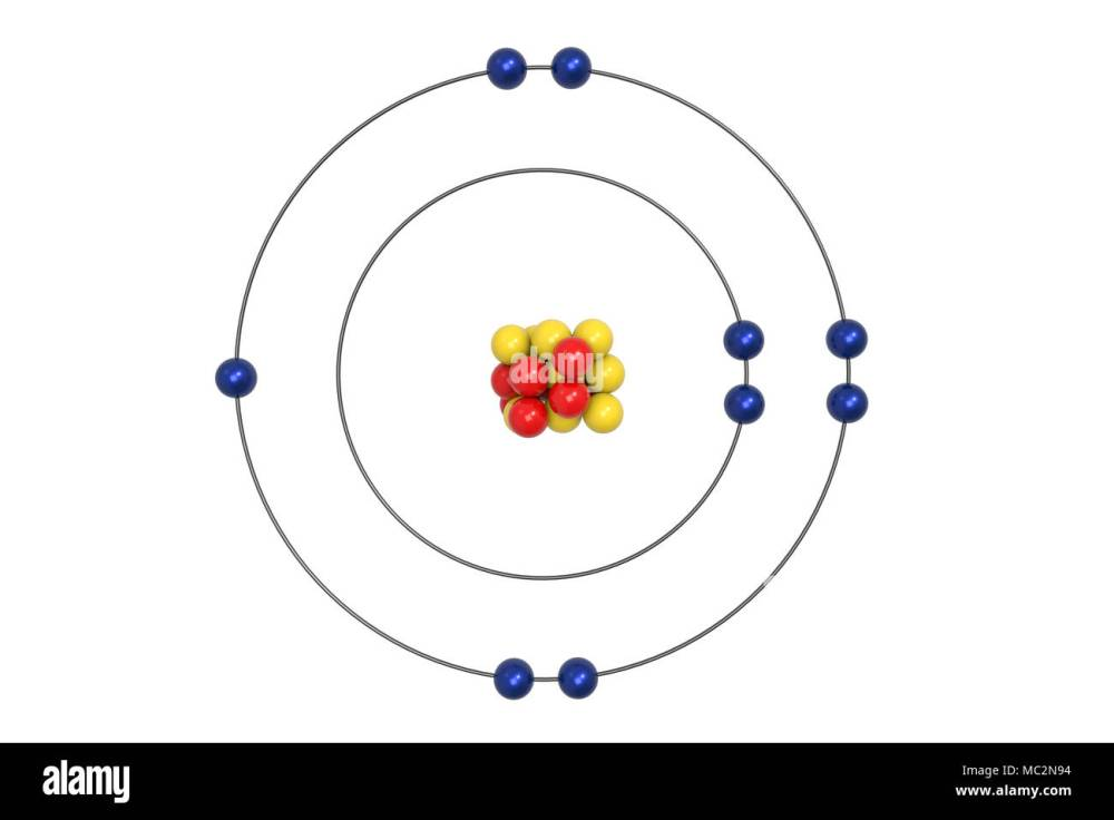 medium resolution of fluorine atom bohr model with proton neutron and electron 3d illustration stock image