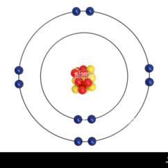 Neon Atom Diagram 1997 Lexus Es300 Engine Stock Photos Images Alamy Bohr Model With Proton Neutron And Electron 3d Illustration Image