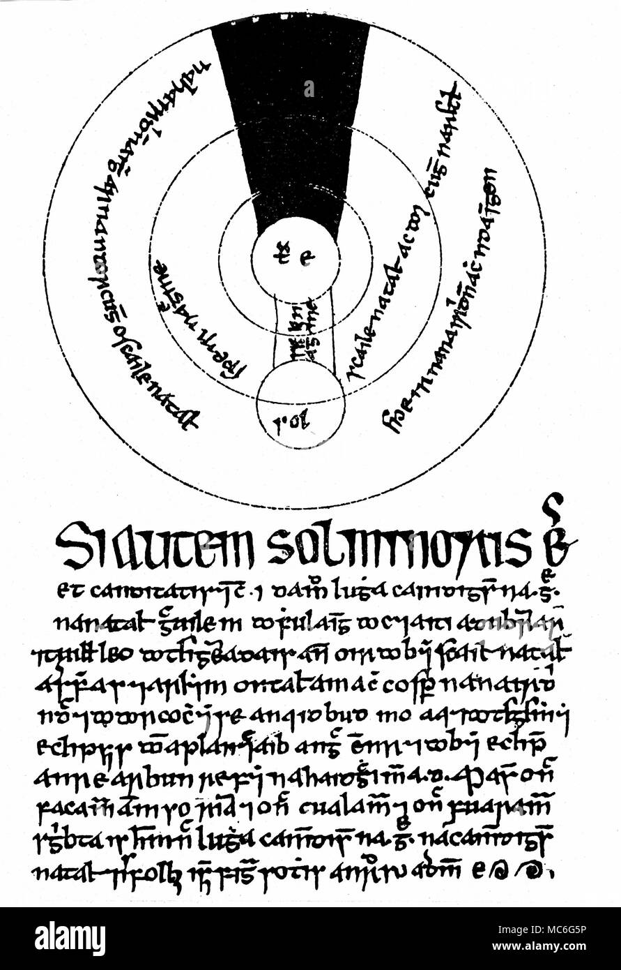 hight resolution of astrology eclipse an irish astronomical diagram of circa 1400 ad illustrating the theory of eclipses being caused by the shadow of the earth