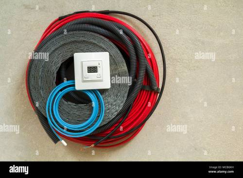 small resolution of heating floor system wires cables and control panel renovation and construction concept comfort house
