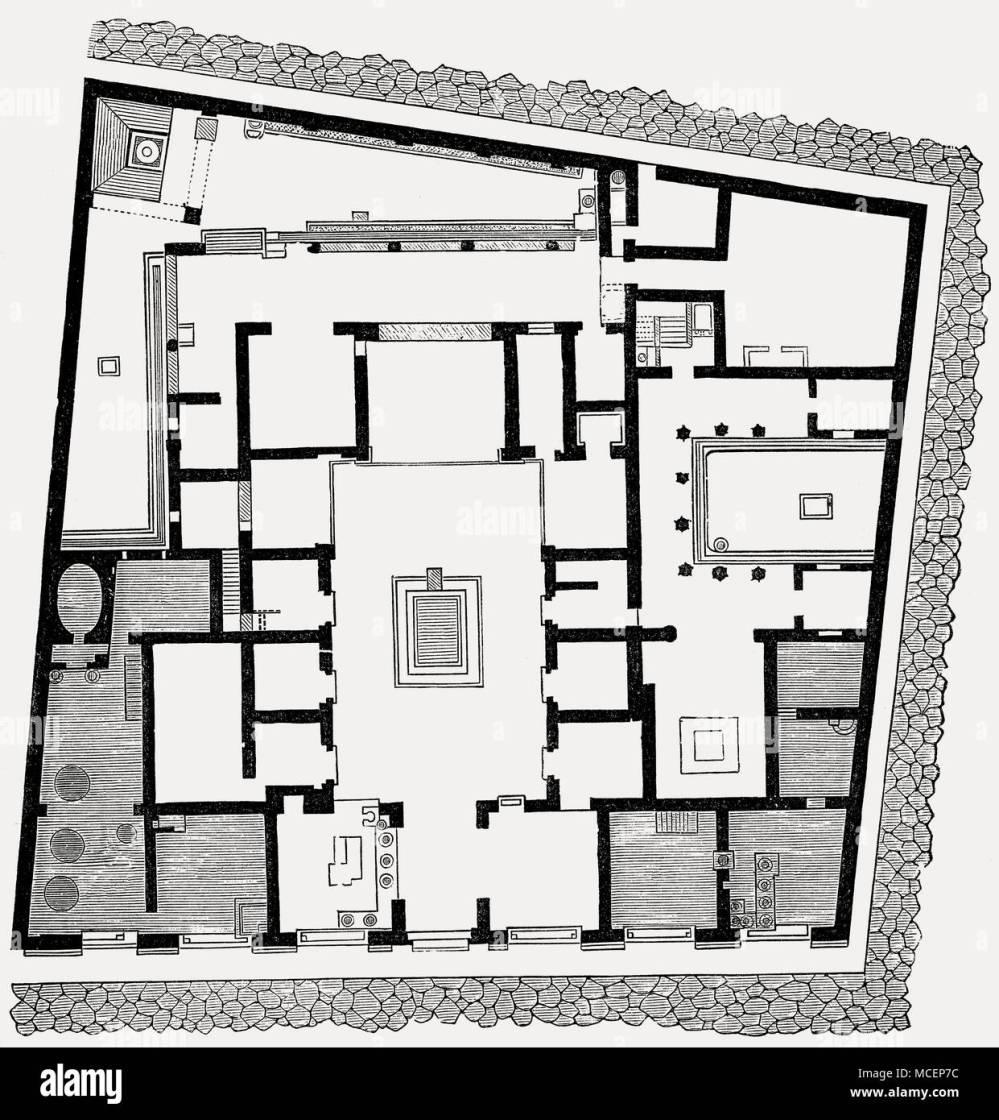 medium resolution of plan of the house of sallust ancient roman city of pompeii