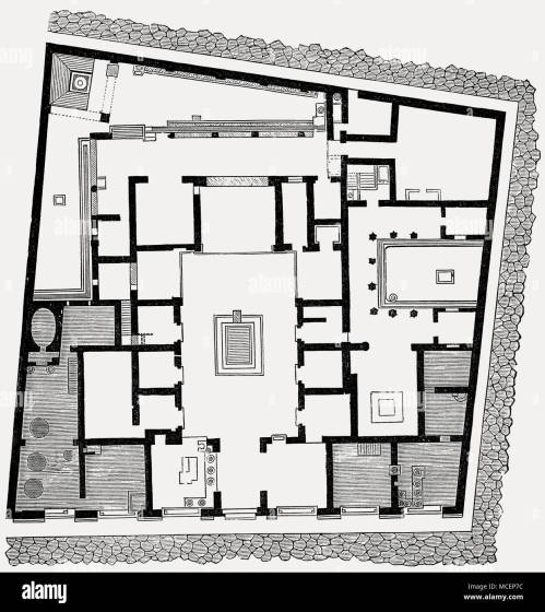 small resolution of plan of the house of sallust ancient roman city of pompeii