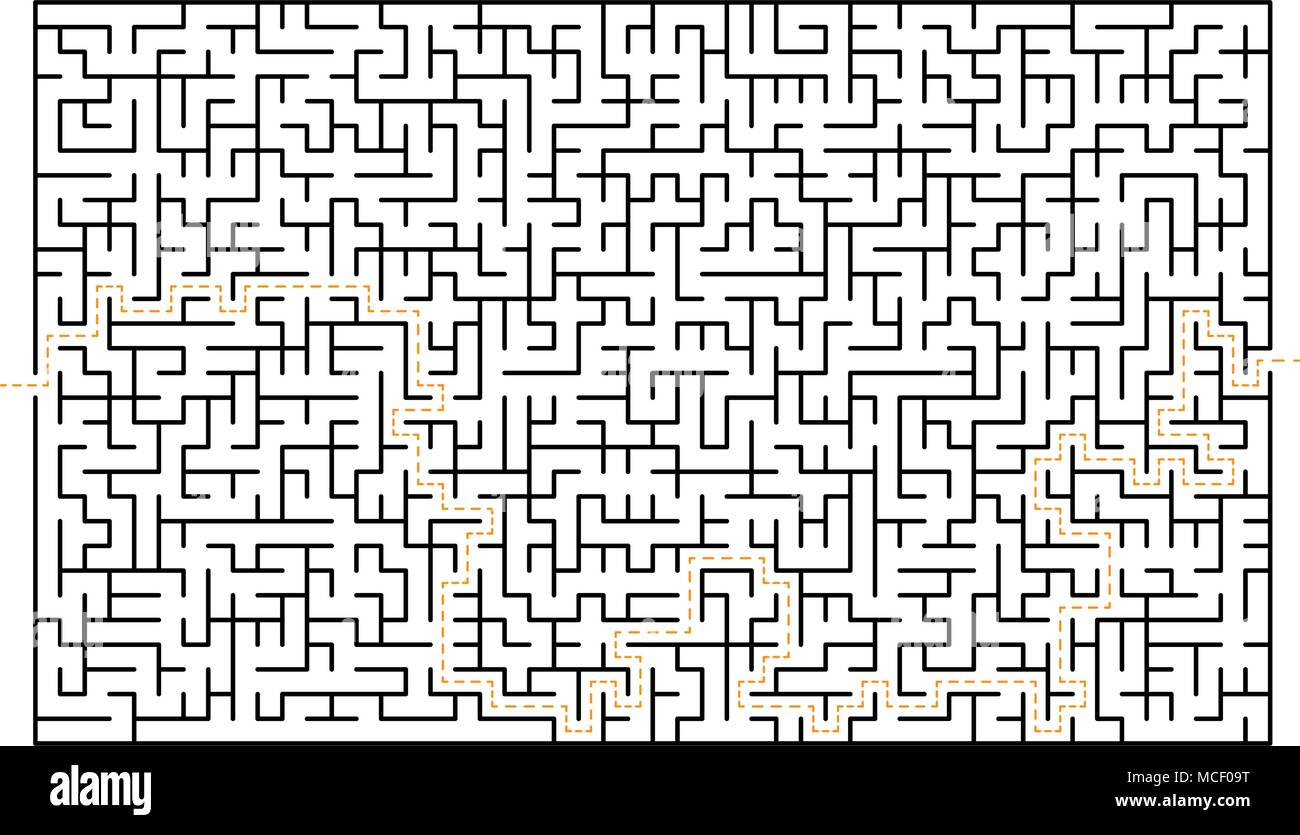 Big Difficult Maze Labyrinth Game Isolated On White