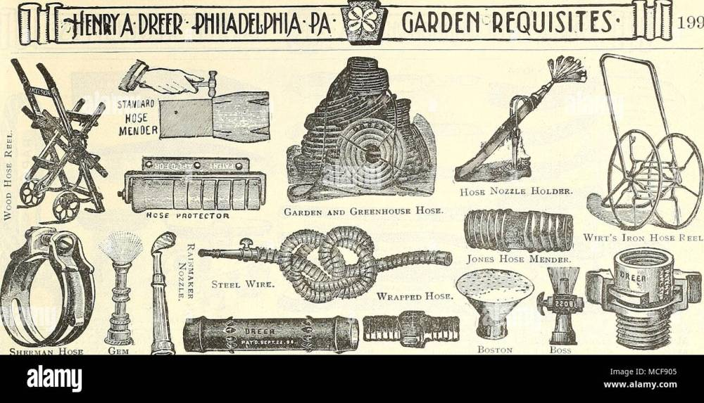 medium resolution of garden requisites 199 sherman hose gem clamp nozzle cooper hose mender hose