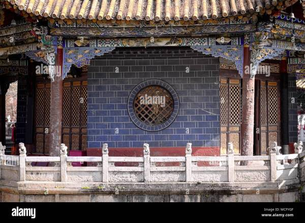 Architectural Detail Chinese Temple Roof Stock