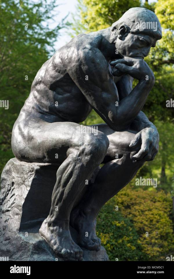Rodin's The Thinker Drawing