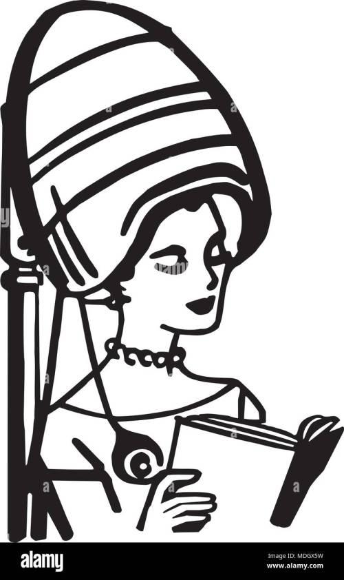 small resolution of beauty salon hair dryer retro clipart illustration