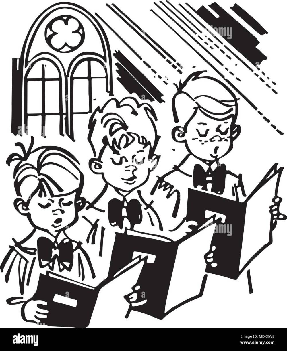 medium resolution of boys choir retro clipart illustration