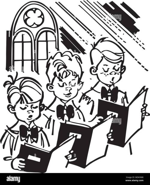 small resolution of boys choir retro clipart illustration