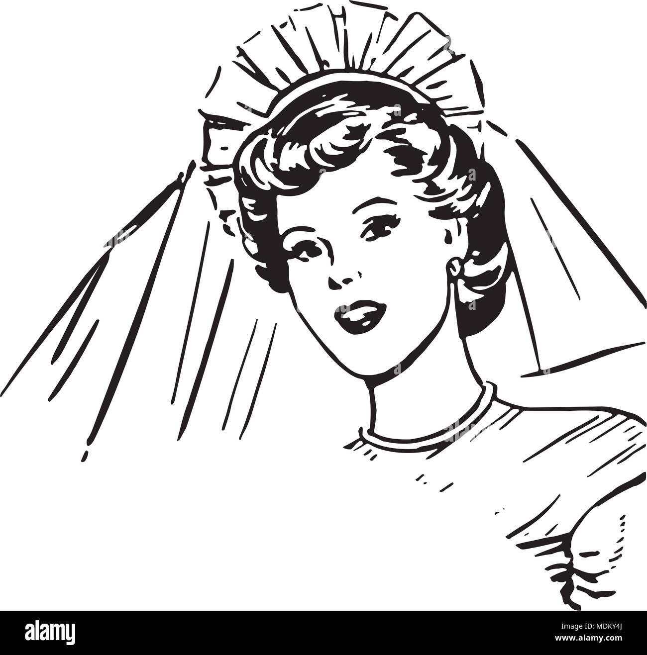 hight resolution of bride retro clipart illustration