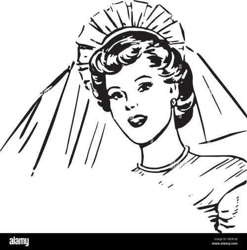 small resolution of bride retro clipart illustration