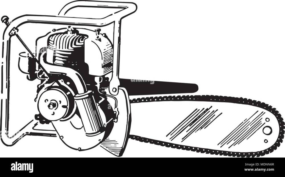 medium resolution of chain saw retro clipart illustration