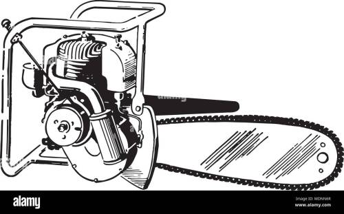 small resolution of chain saw retro clipart illustration