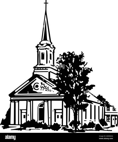 small resolution of church retro clipart illustration