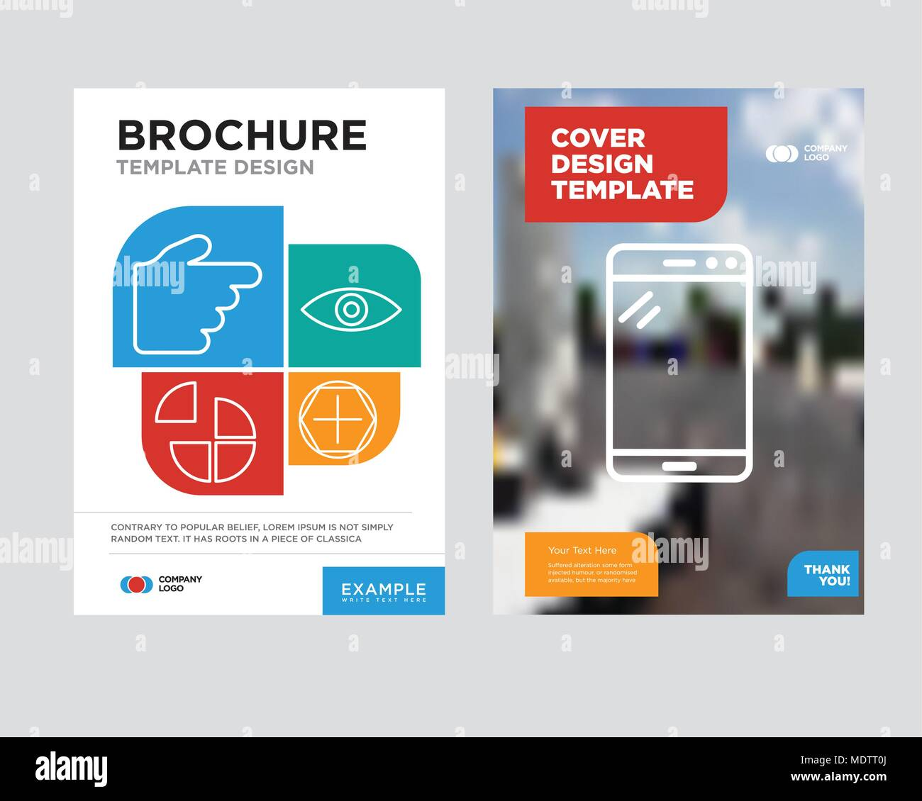 Tablet Brochure Flyer Design Template With Abstract Photo Background, Add  Tool, Eye, Pie