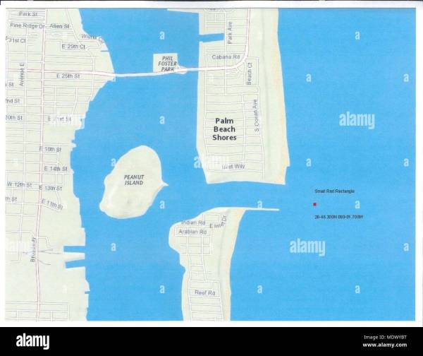 Lake Worth Florida Map East Coast Imgurl