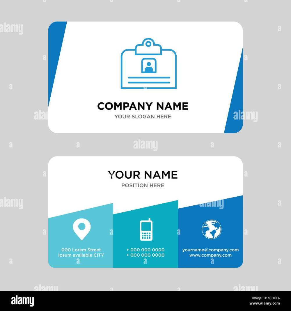 medium resolution of contact id card business card design template visiting for your company modern creative and clean identity card vector illustration