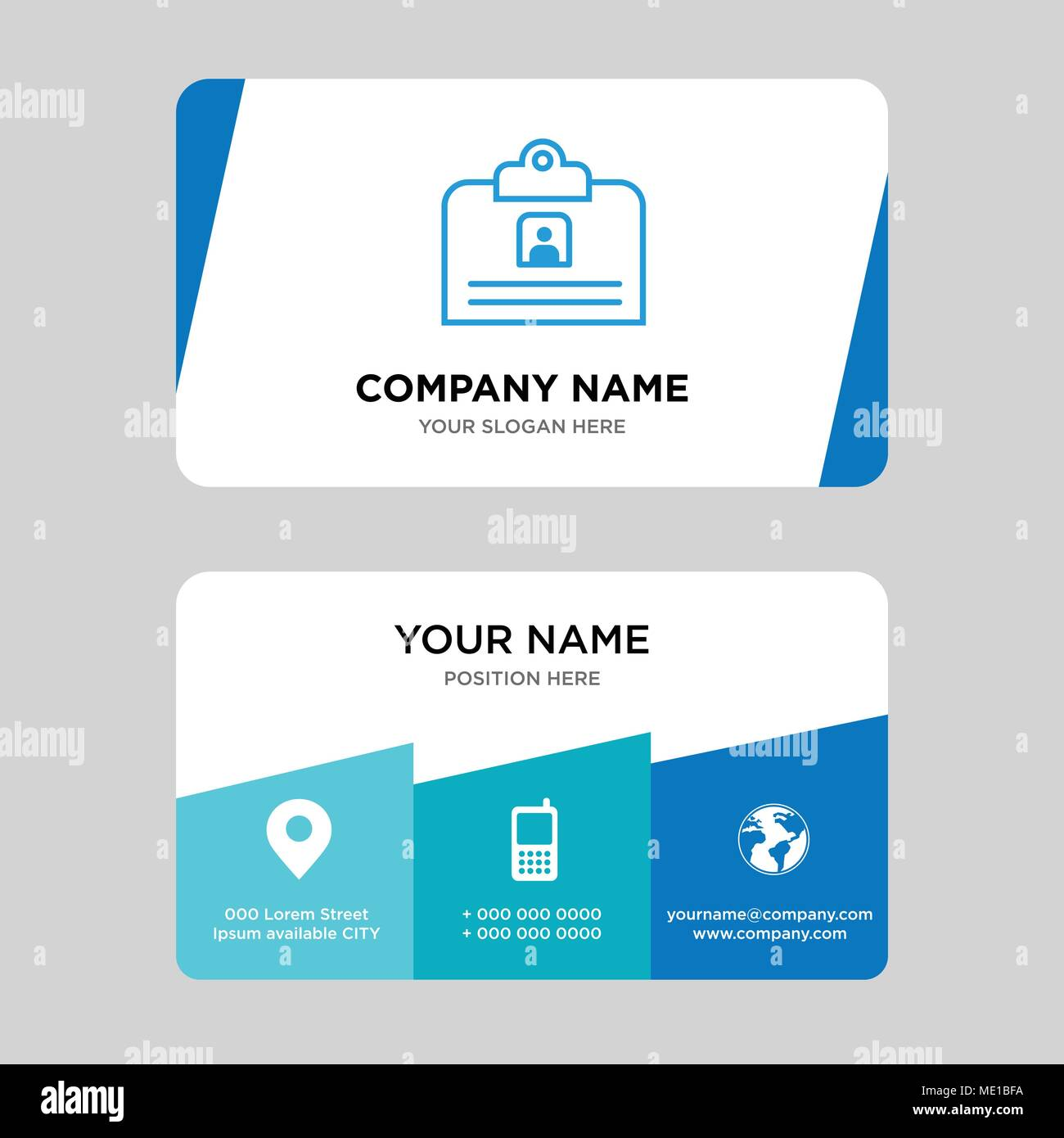 hight resolution of contact id card business card design template visiting for your company modern creative and clean identity card vector illustration
