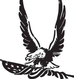 defiant american eagle retro clipart illustration [ 1123 x 1390 Pixel ]