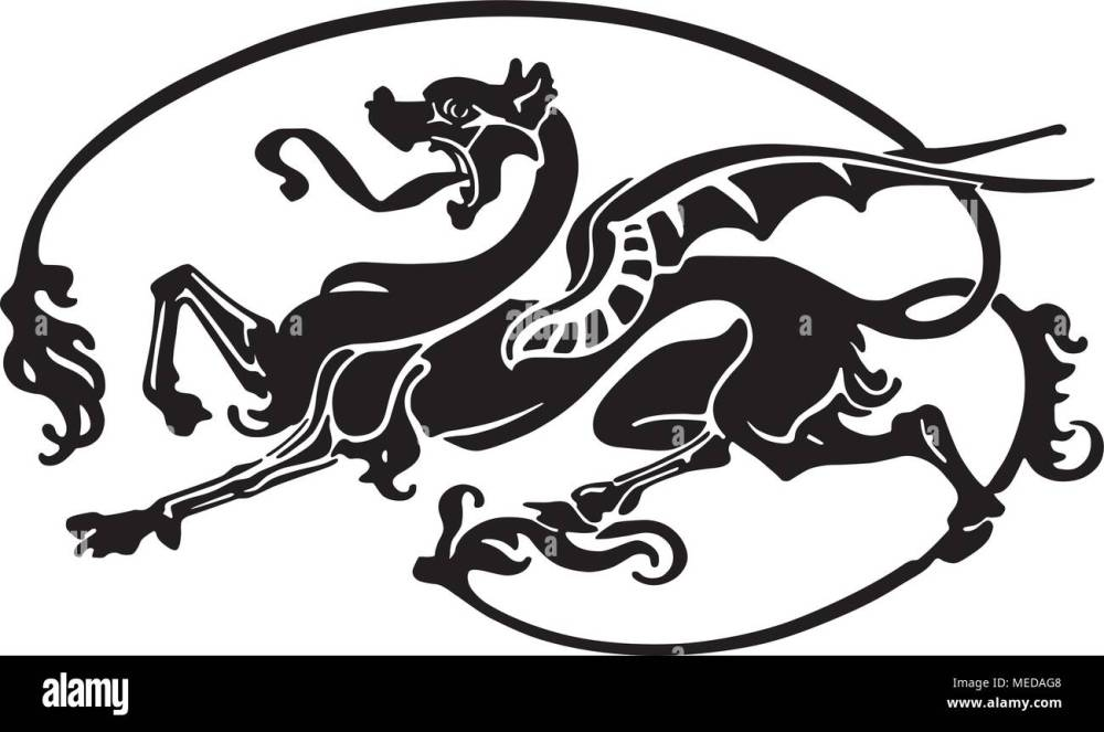 medium resolution of dragon tattoo retro clipart illustration