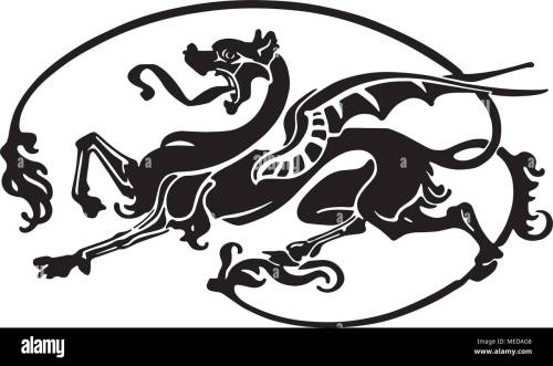 small resolution of dragon tattoo retro clipart illustration