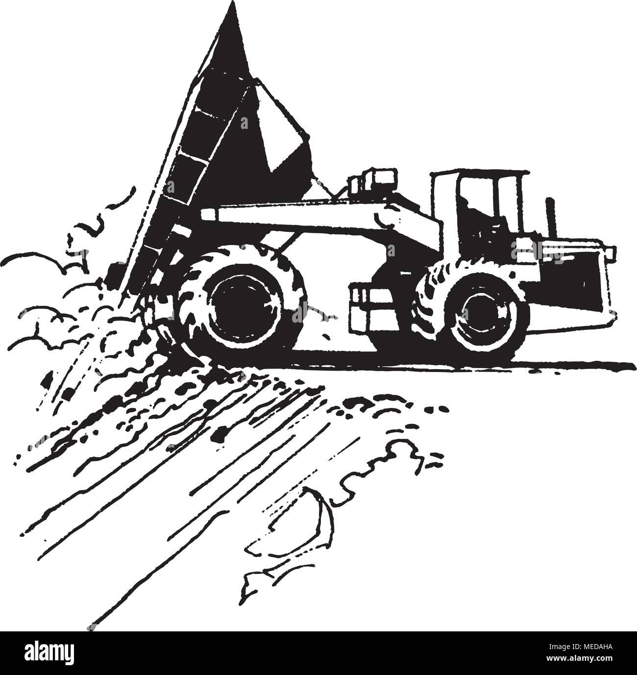 hight resolution of dump truck retro clipart illustration