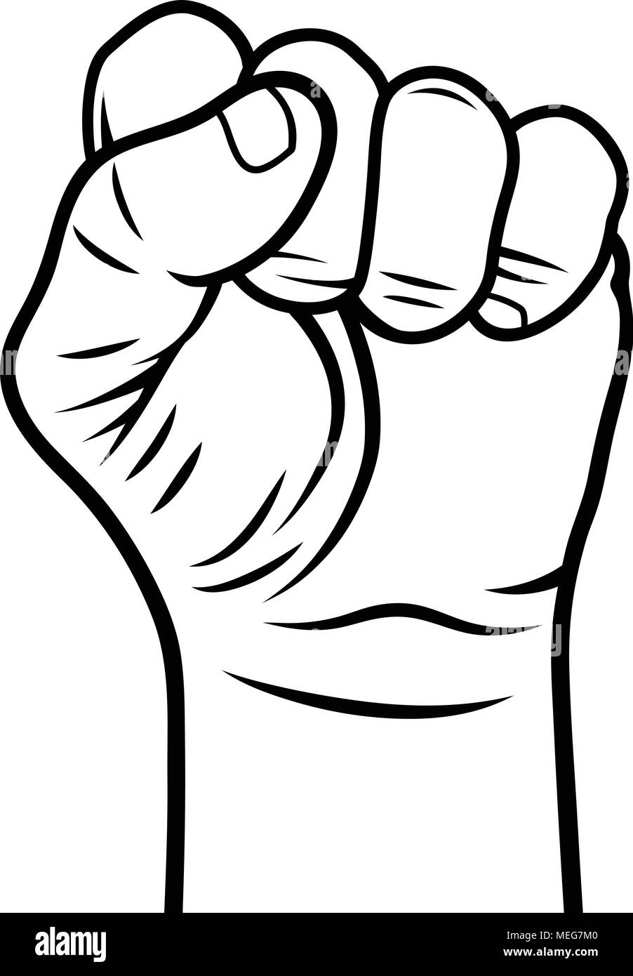 Male fist vector illustration fist held in protest revolt symbol stock image