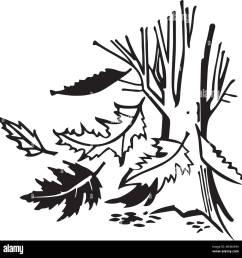 falling autumn leaves retro clipart illustration [ 1300 x 1314 Pixel ]