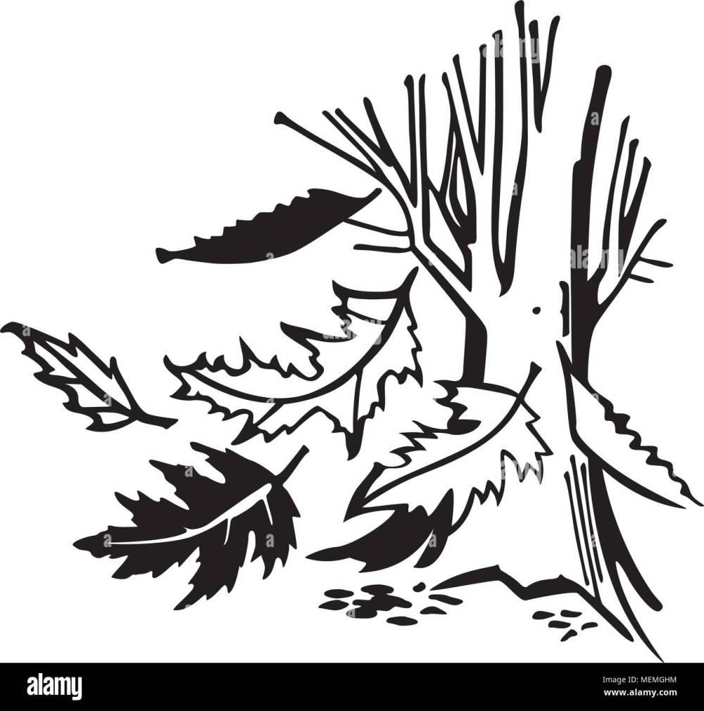 medium resolution of falling autumn leaves retro clipart illustration