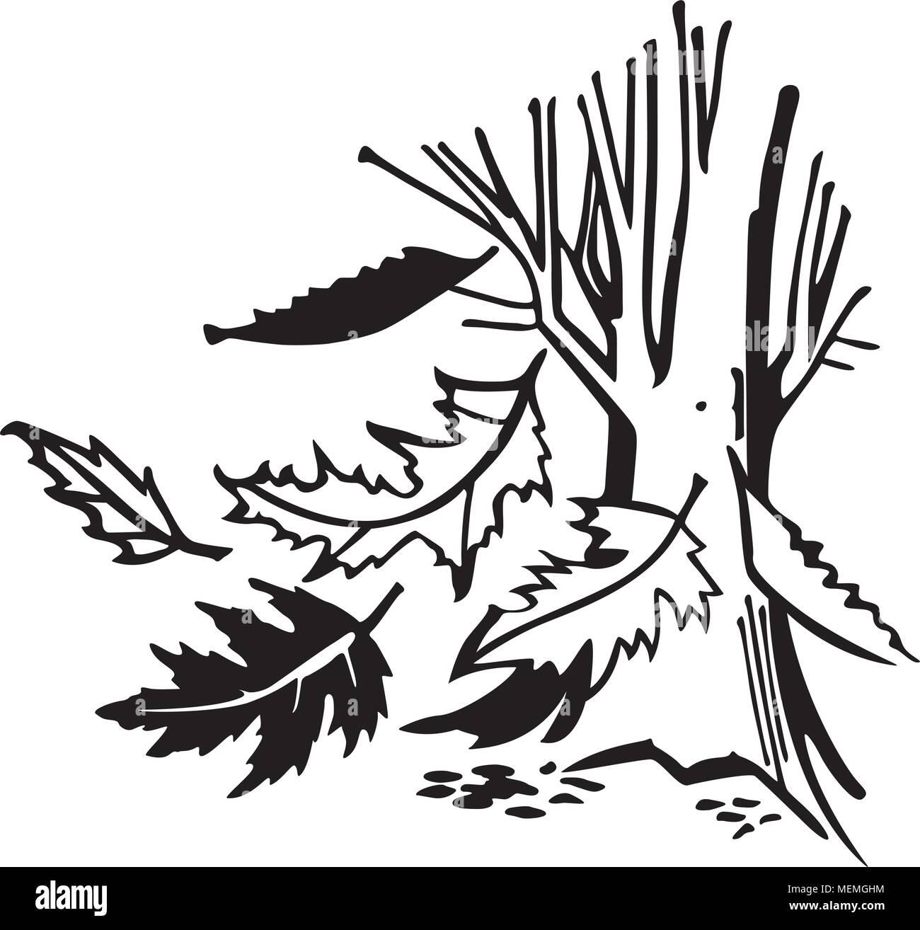 hight resolution of falling autumn leaves retro clipart illustration