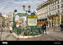 Pigalle Metro Station Entrance Designed Hector Guimard