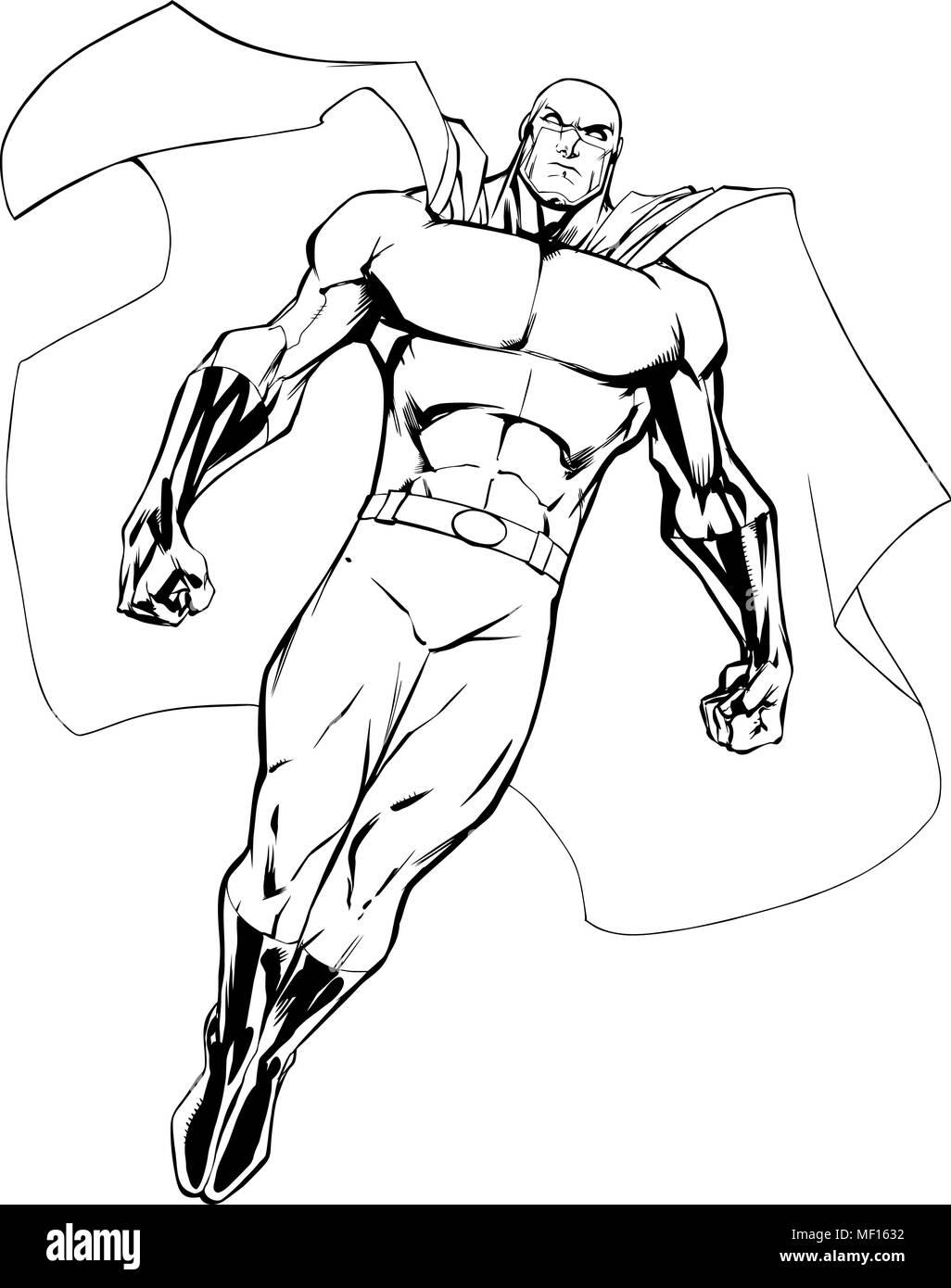 Superhero Cape Art Stock Vector Images